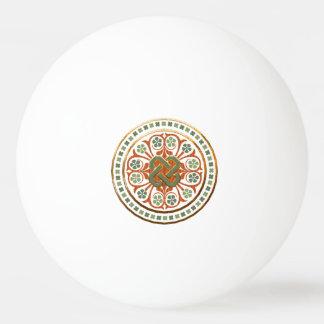 Clover Mandala Ping Pong Ball