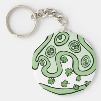 Clover Neurotransmitters Basic Round Button Key Ring