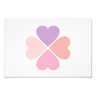 Clover of type of hearts day of San Valentin Photo