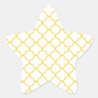Clover Pattern 1 Freesia Star Sticker
