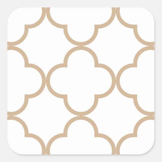 Clover Pattern 1 Sand Square Sticker