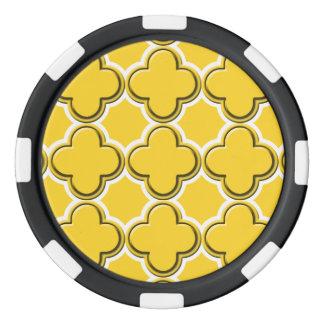 Clover Pattern 2 Freesia Poker Chips