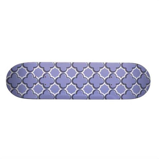 Clover Pattern 2 Violet Tulip Skate Board Decks
