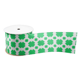 Clover Patterned Satin Ribbon