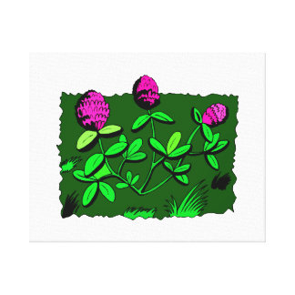 Clover plant graphic design.png gallery wrap canvas