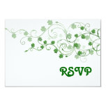 Clover RSVP Card 9 Cm X 13 Cm Invitation Card