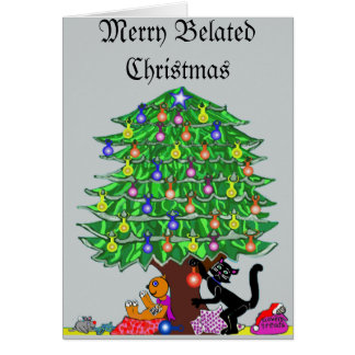Clover the Cat's Christmas Greeting Card