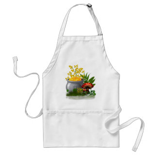 Clover Trail Whimsical Folk Art Standard Apron