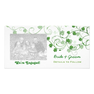 Clover We re Engaged Photo Cards