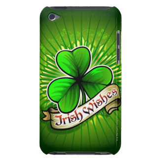 Clover with 'Irish Wishes' banner iPod Case-Mate Case
