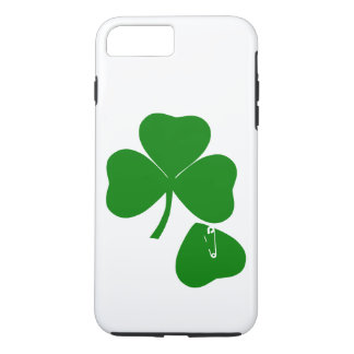 Clover with Safety Pin St Patrick's Day Get Lucky iPhone 7 Plus Case