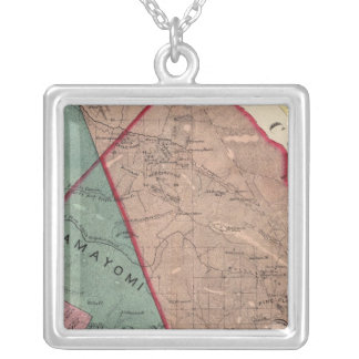 Cloverdale, Washington, Mendocino Silver Plated Necklace