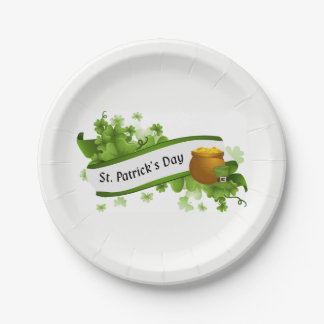 Clovers 7 Inch Paper Plate