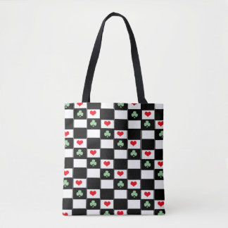 Clovers and hearts Game Board Tote Bag
