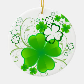 Clovers and Swirls Christmas Ornament