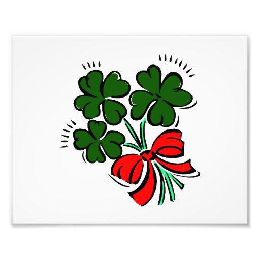 clovers tied with red bow graphic.png art photo