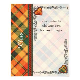 Clow clan Plaid Scottish kilt tartan 11.5 Cm X 14 Cm Flyer