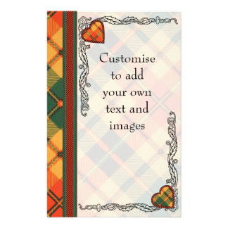 Clowe clan Plaid Scottish kilt tartan 14 Cm X 21.5 Cm Flyer
