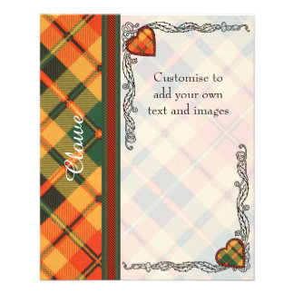 Clowe clan Plaid Scottish kilt tartan 11.5 Cm X 14 Cm Flyer