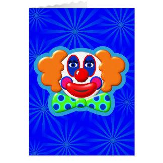 Clown 3D Three Dimensional Design Greeting Card