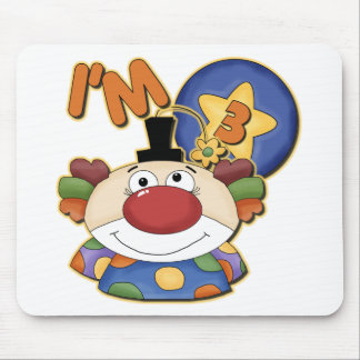 Clown 3rd Birthday Mouse Pad