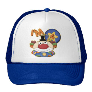 Clown 4th Birthday Cap