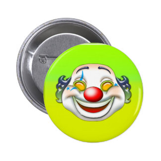 clown 6 cm round badge