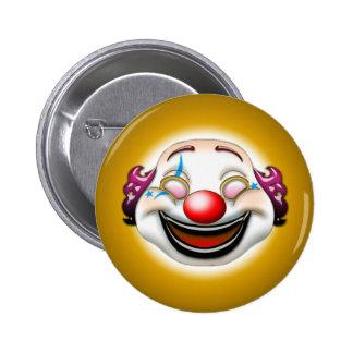 clown 6 cm round badge