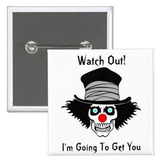 Clown A-Round - Square Button