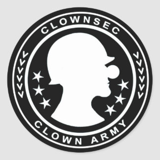 Clown Army Badge Sticker