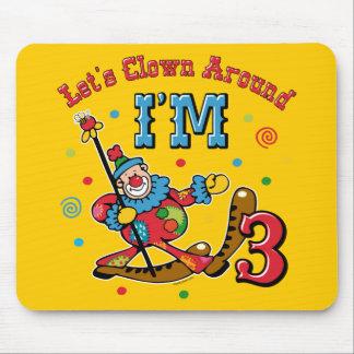 Clown Around 3rd Birthday Mouse Pads
