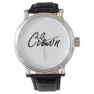 Clown Artistic Job Design Wrist Watch