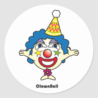 Clown Ball Sticker
