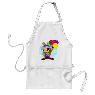 Clown bear holding balloons standard apron