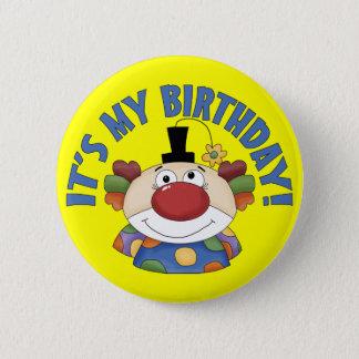 Clown Birthday 6 Cm Round Badge