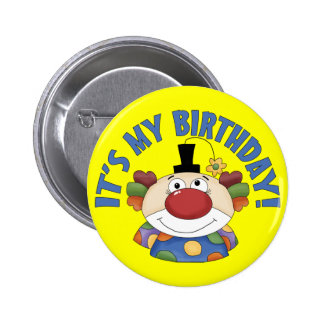 Clown Birthday 6 Cm Round Badge