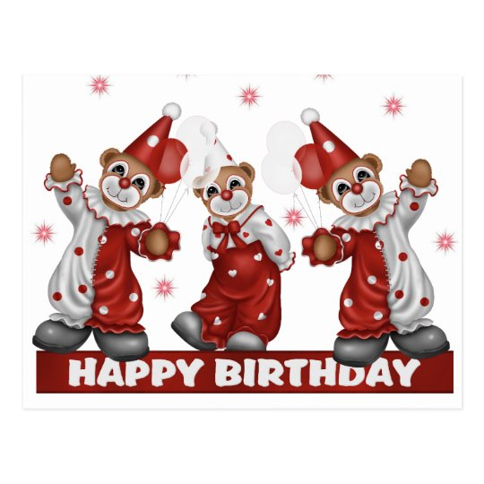 Clown Birthday Postcard