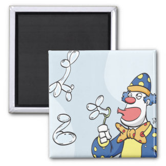 Clown Blowing Bubbles Magnet