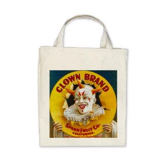 Clown Brand citrus crate label circa 1940 Tote Bags