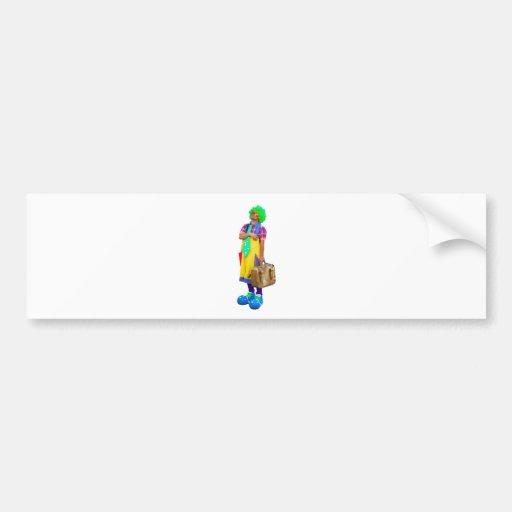 clown bumper stickers