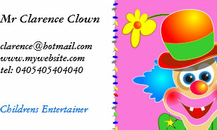 Circus clown business cards business card printing zazzle uk clown business card colourmoves