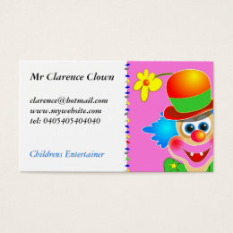 Clown faces business cards business card printing zazzle uk clown business card colourmoves