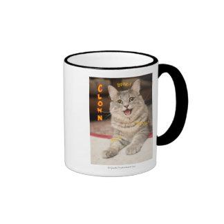 Clown Cat Ringer Mug