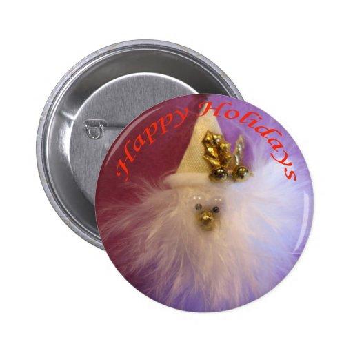 Clown Christmas Button