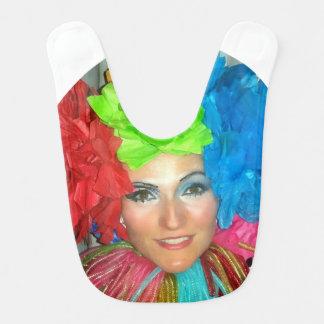 clown circus rainbow jester bib