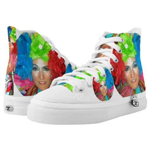 clown circus rainbow jester High-top Sneakers