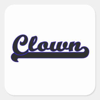 Clown Classic Job Design Square Sticker
