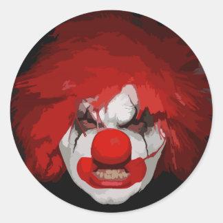 Clown Classic Round Sticker