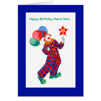 Clown Customizable Birthday Card