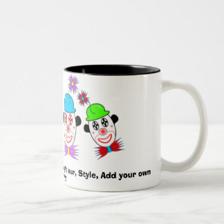 Clown, Customize ME! Change Mug Colour, Sty...